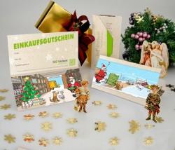 Bio-Tierkost Einkaufsgutschein Motiv Weihnachten
