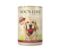 Dog's Love BIO REDS mit frischem Gemüse & Obst (vegan)