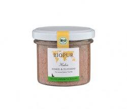 Biopur Huhn, Dinkel & Zucchini im Glas