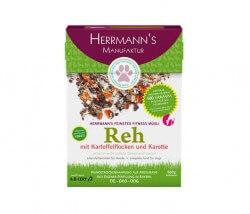 Herrmanns Fitnessmüsli Reh mit Bio-Kartoffeln