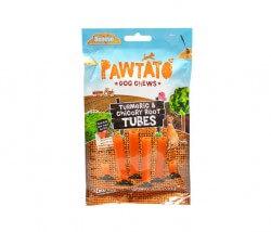 Benevo Pawtato Tubes Turmeric & Chicory Root (Süßkartoffel-Stangen mit Kurkuma & Zichorien-Wurzel)